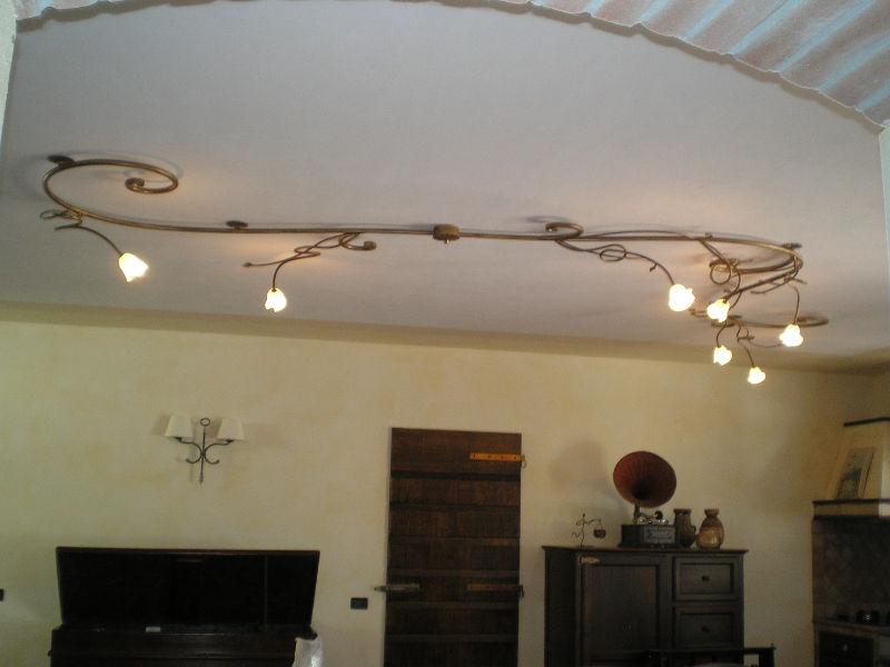 lampadari a soffitto in Ferro Battuto